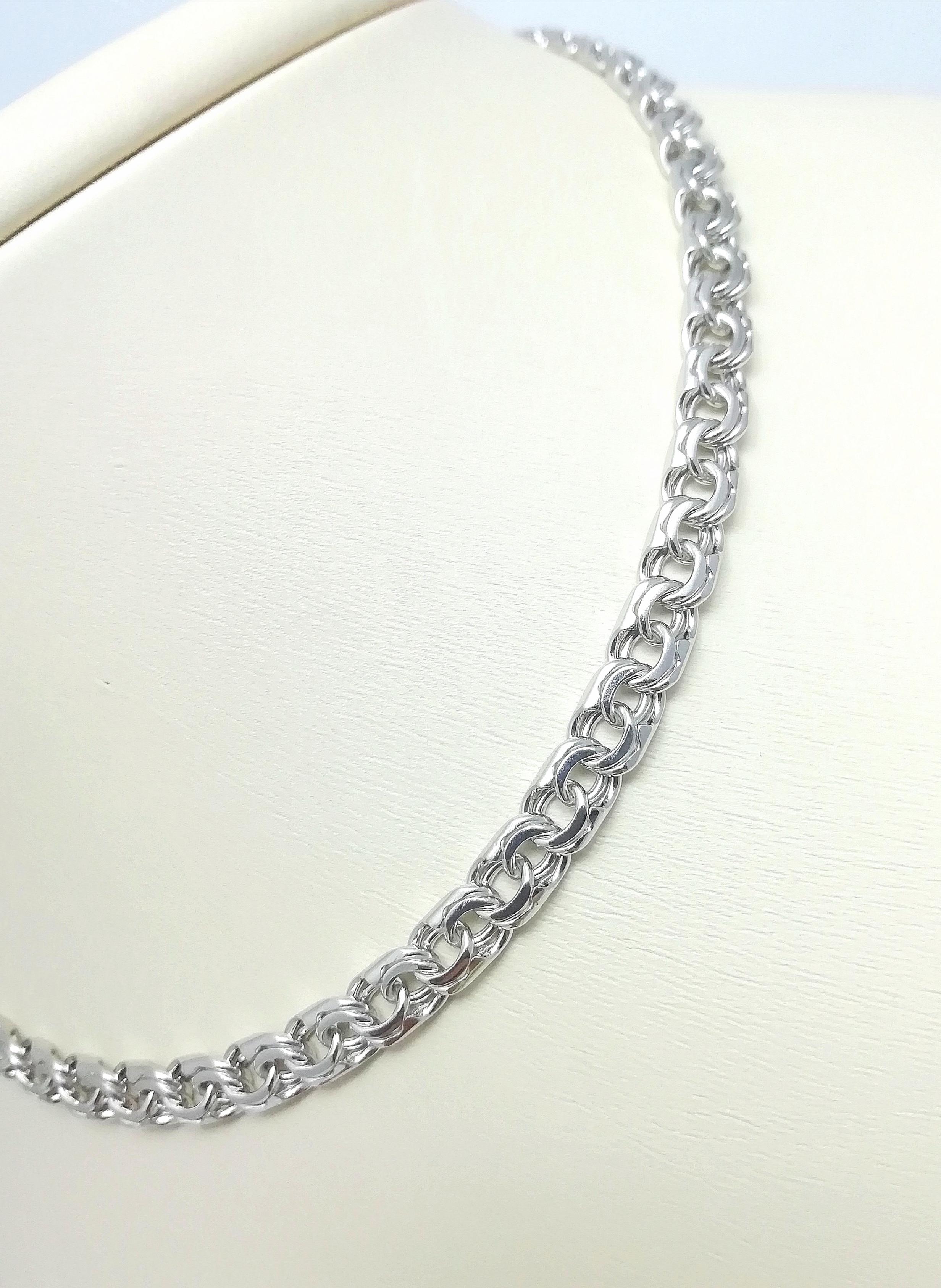 Серебро цепь дк240920-132 26,10гр