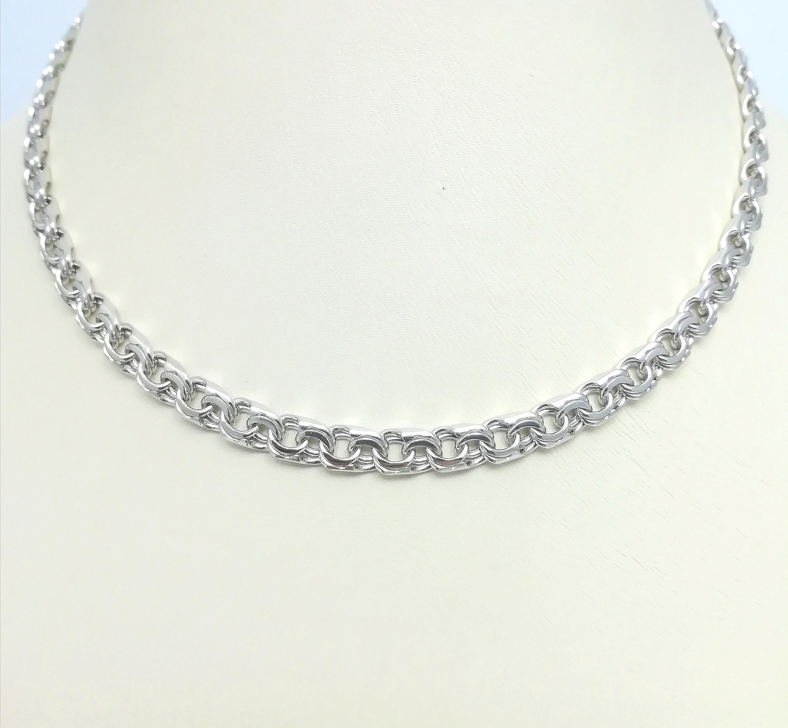 Серебро цепь дк240920-140 32,70гр