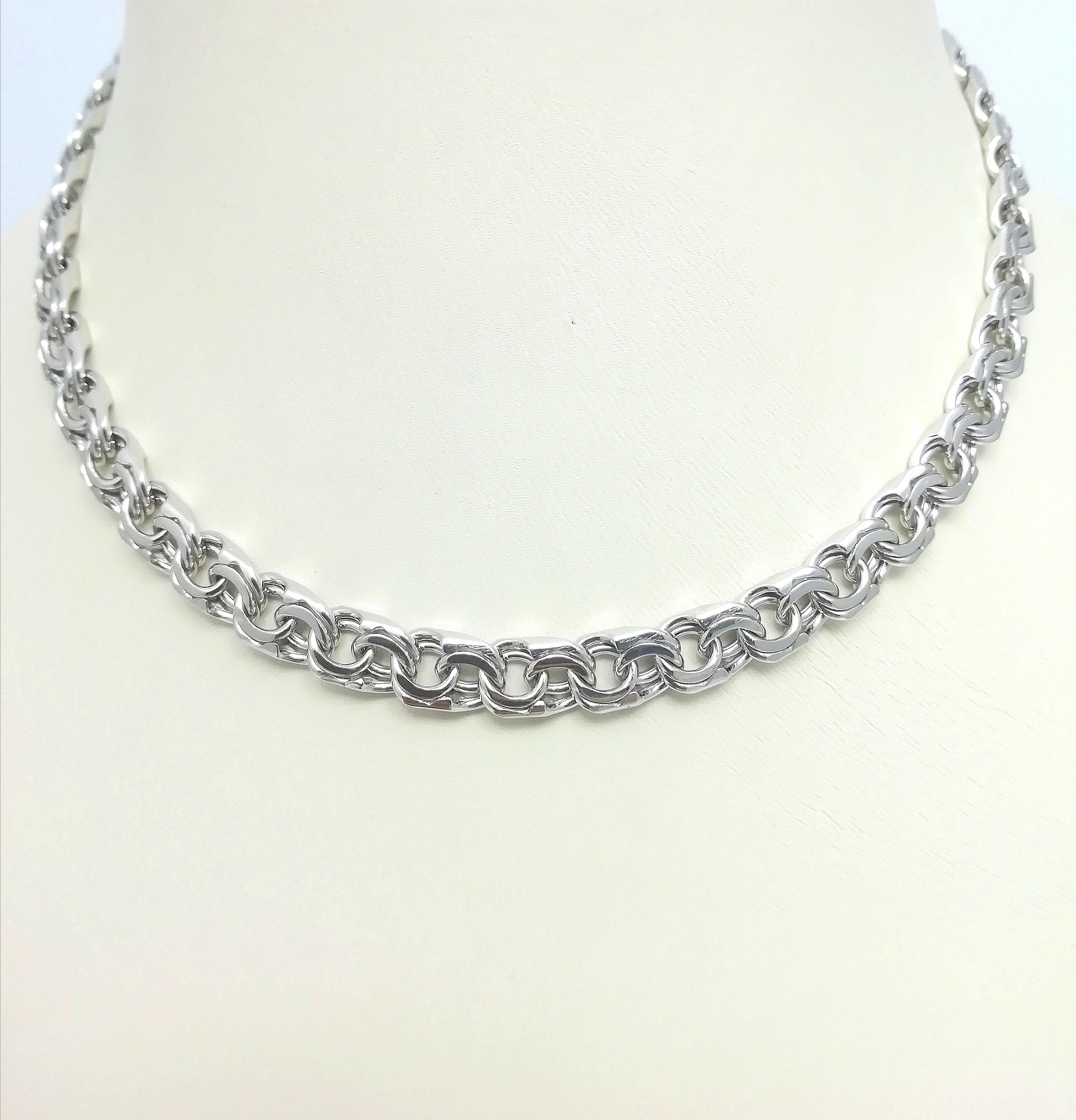 Серебро цепь дк240920-160 43,90гр