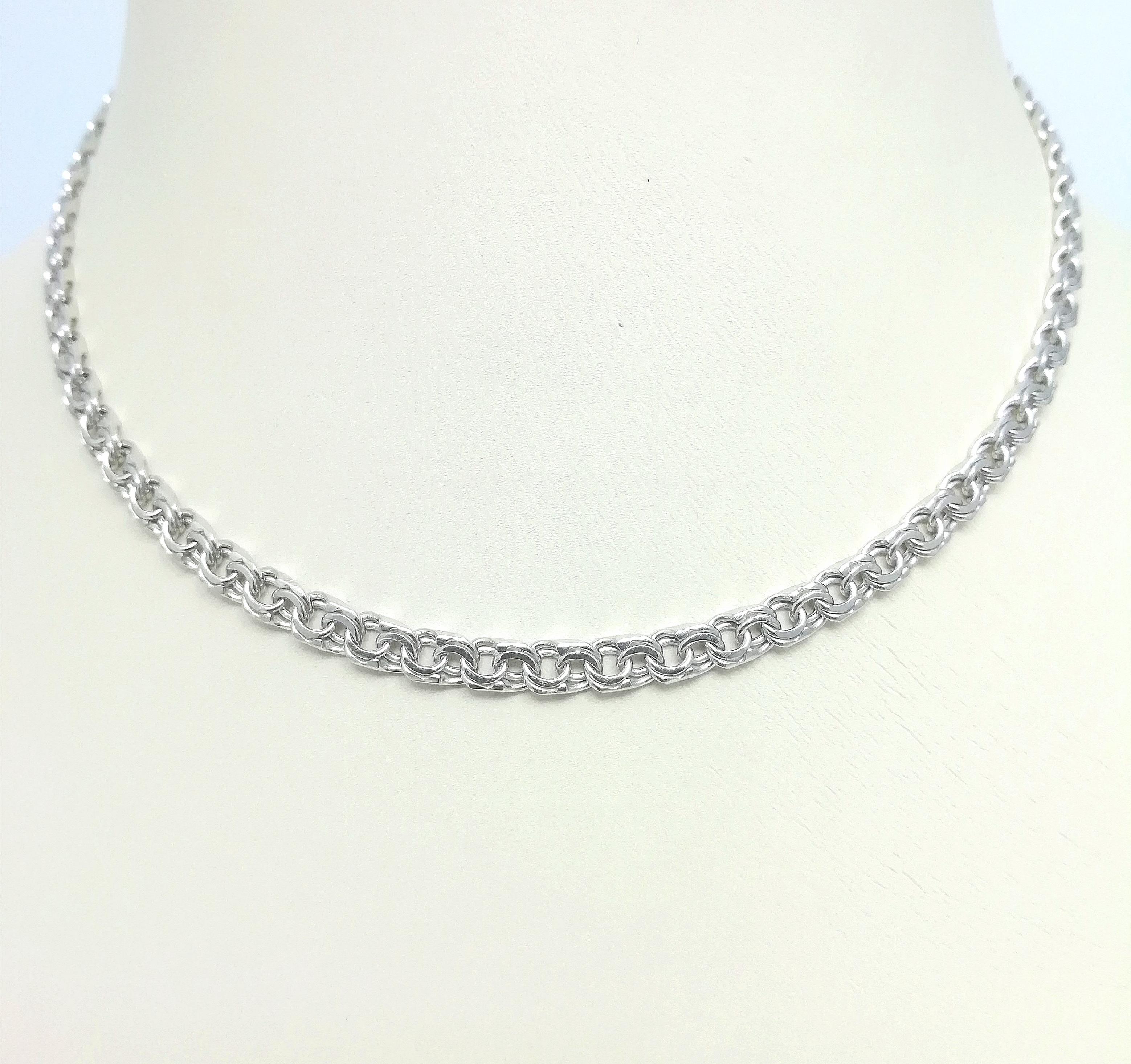 Серебро цепь дк240920-90 18,60гр