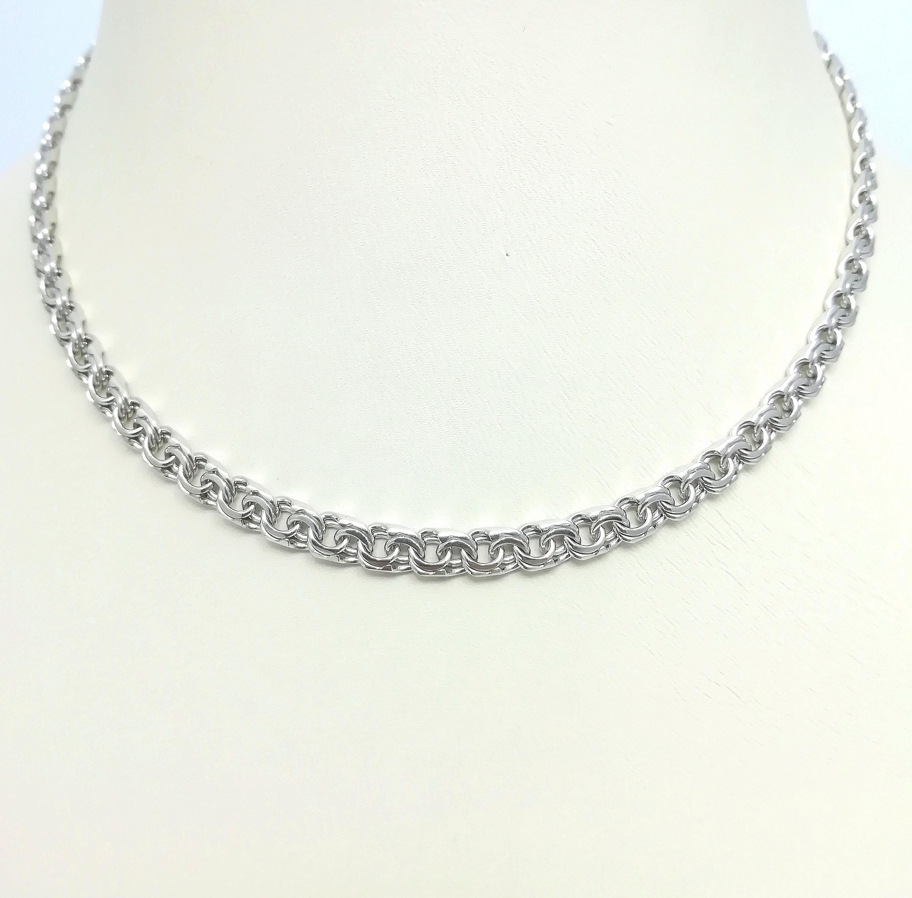 Серебро цепь дк240920-110 21,50гр