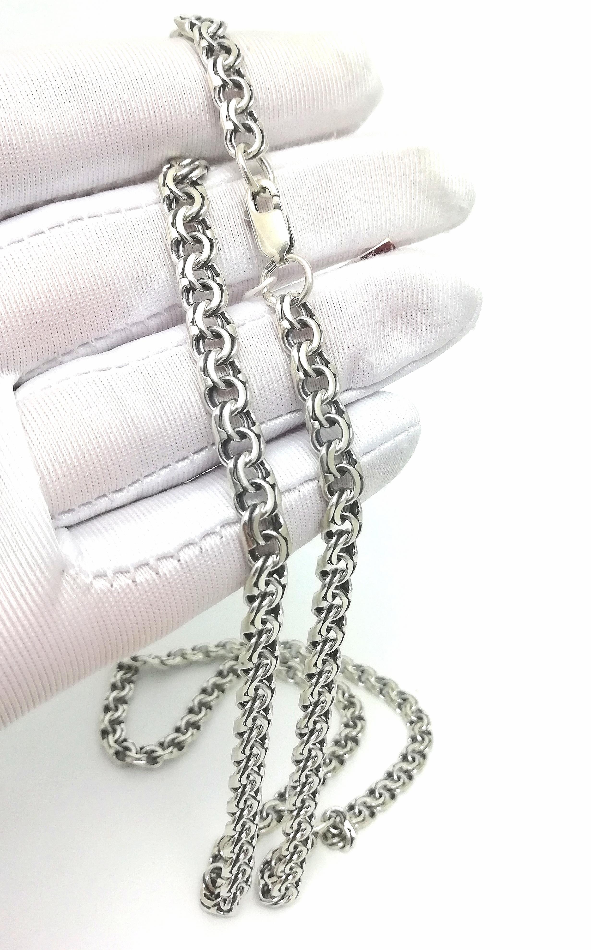 Серебро цепь дк240920-128 33,30гр